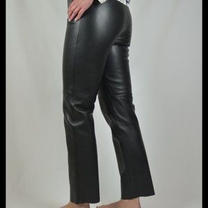 Genuine leather pants | Black | Size 12 | Bootcut